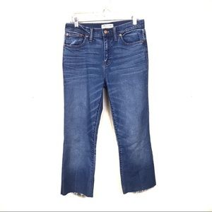 Madewell Flea Market Flare Crop Jeans 28